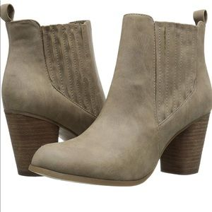 Madden Girl Taupe Booties
